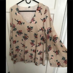 Oversized long sleeve dress shirt